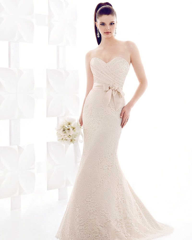 Mikaella #1706: Leavers Lace Dress With Sweetheart