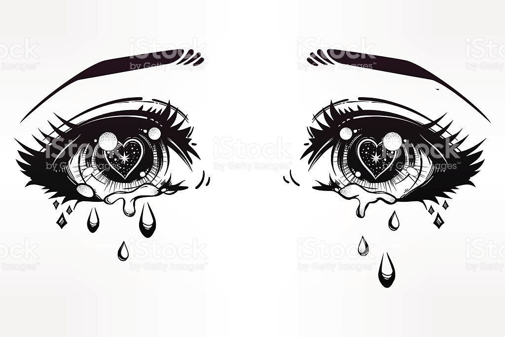 Crying Eyes In Anime Or Manga Style Vector Id613517580 1024 683 Eye Drawing Crying Eye Drawing Anime Eyes