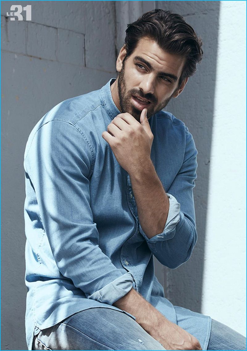 Nyle DiMarco 2016 Simons Fall Denim Lookbook