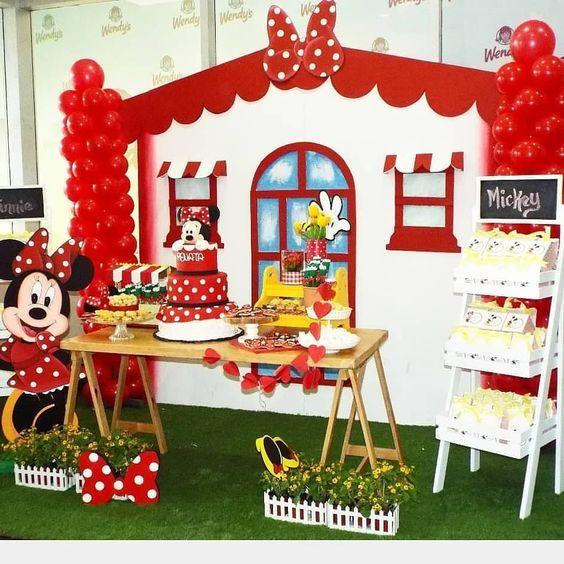 Fiesta Infantil Tematica De Minnie Mouse Mickey Birthday Party Minnie Birthday Minnie Mouse Birthday