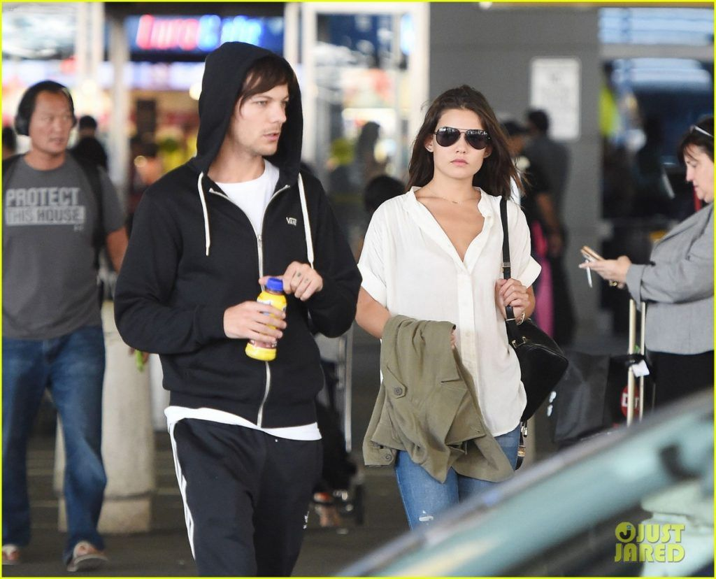 Louis tomlinson lets his hair down in manchester after splitting from - Danielle Campbell Louis Tomlinson Touch Down Jfk 04