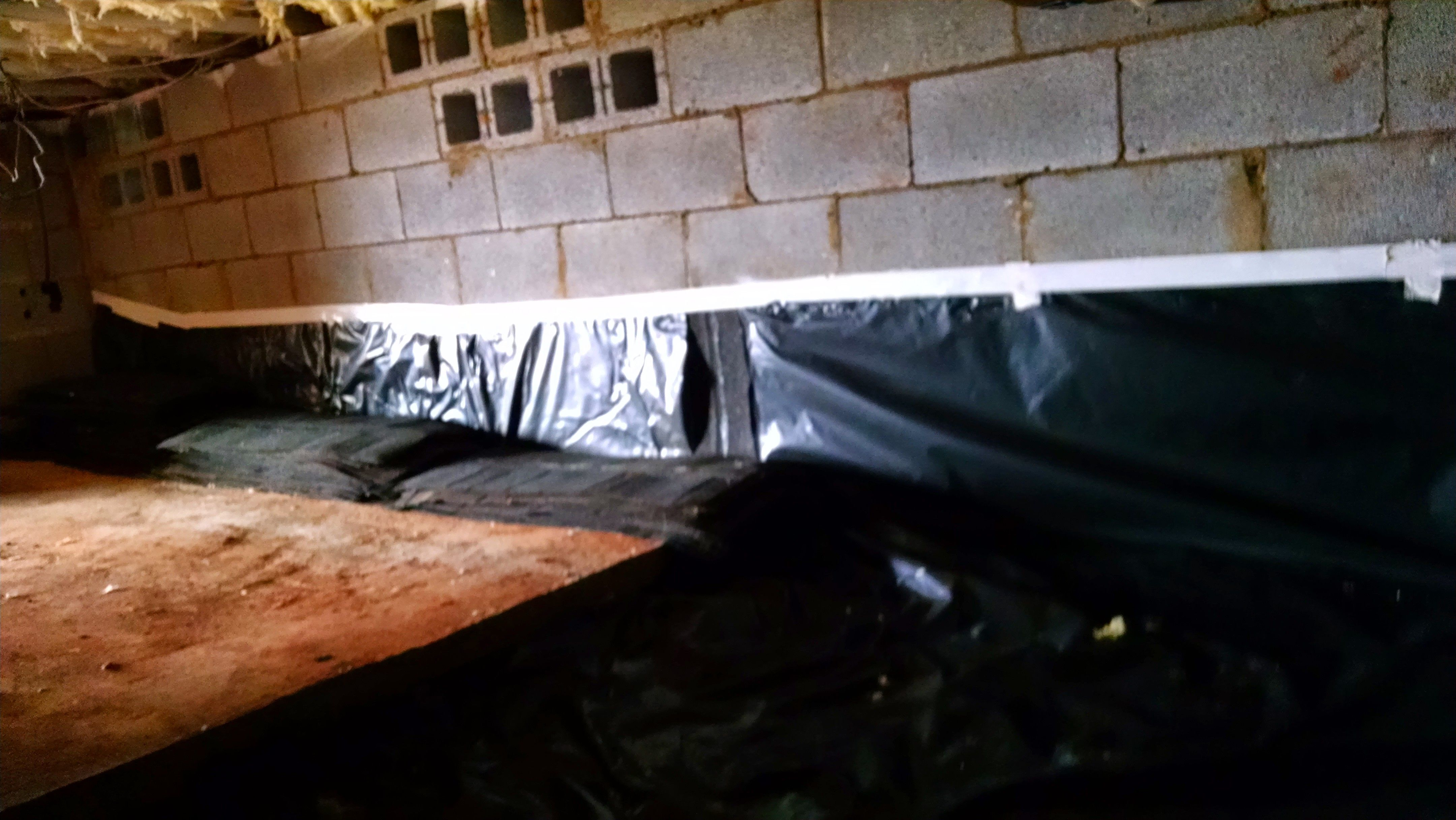 Whether Using 6 Mils Or 20 Mils Any Vapor Barrier Is Better Than None When Installing A Vapor Barrier In A Cr Crawl Space Encapsulation Crawl Space Vapor Barrier Fiberglass Insulation