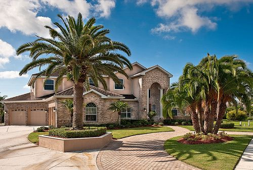 This Is It My Official Dream House Palm Trees And All Outdoor Buildings House Landscape Palm Trees Landscaping
