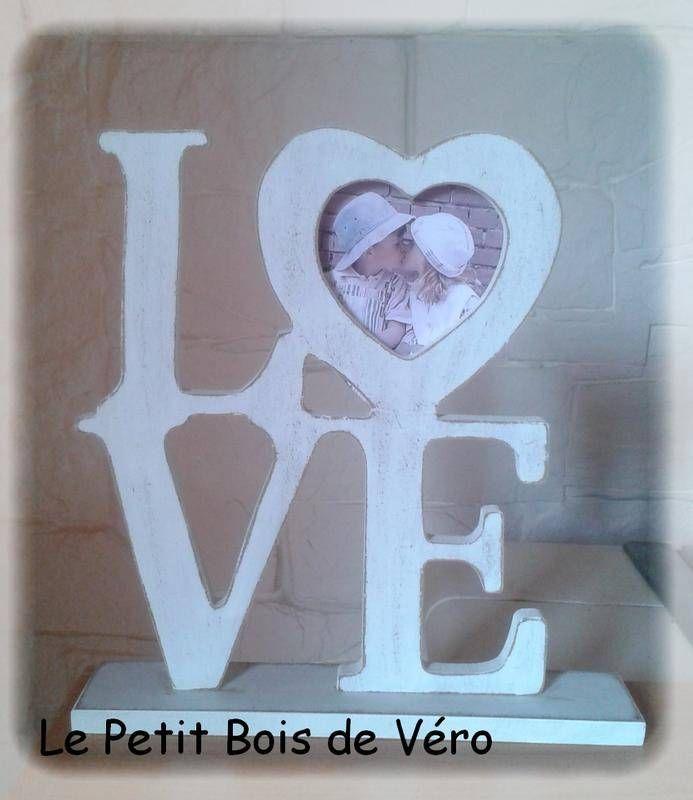 Mot LOVE 1 - objets déco - Le Petit Bois de Véro - Fait Maison - tour a bois fait maison