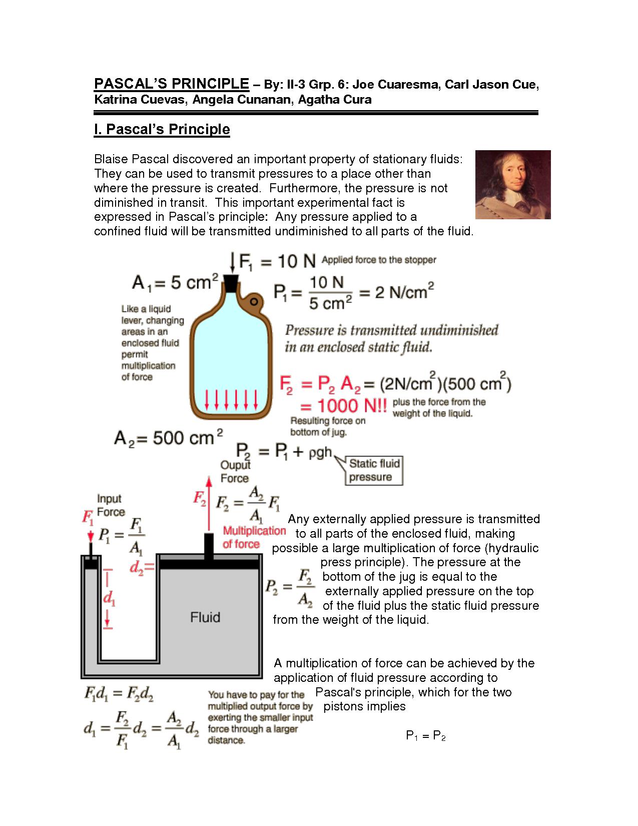 Pascals Principle