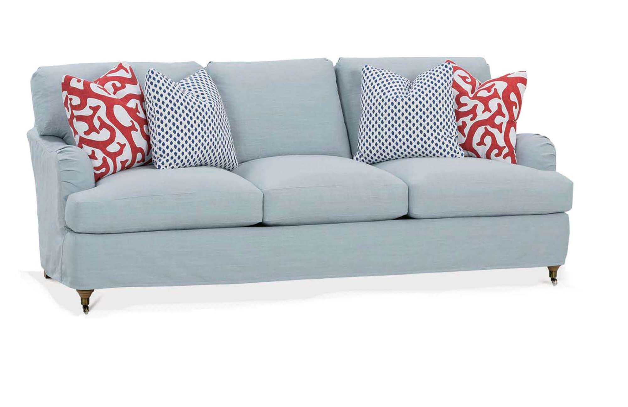 The brooke slipcover sofa offers a modern design that can blend in with most contemporary room themes customize the body pillowswelts and finish