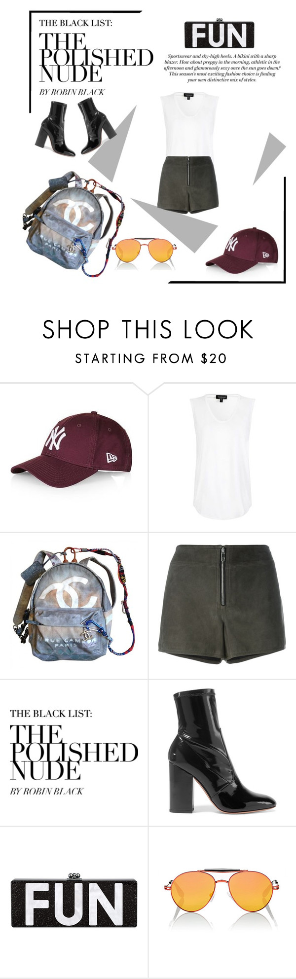 """""""Fun"""" by valentinasune ❤ liked on Polyvore featuring Topshop, Chanel, rag & bone, Valentino, H&M and Givenchy"""