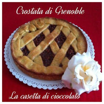 la casetta di cioccolato: Crostata di Grenoble con le noci