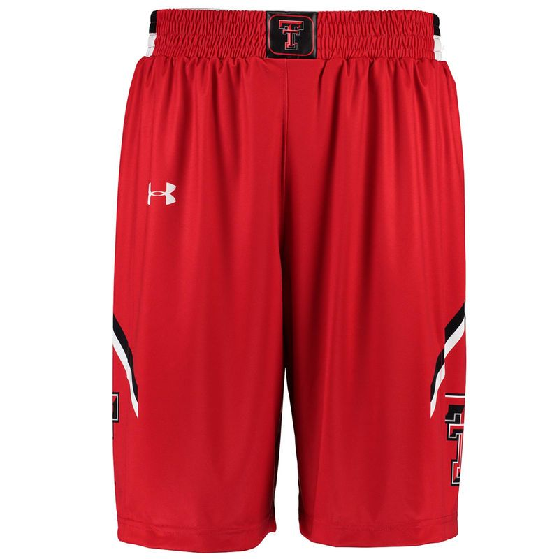 7b101e06baac Texas Tech Red Raiders Under Armour Replica Basketball Performance Shorts -  Red