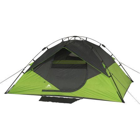 Ozark Trail 4 Person Instant Dome Tent Walmart Com Dome Tent Tent Backpacking Tent