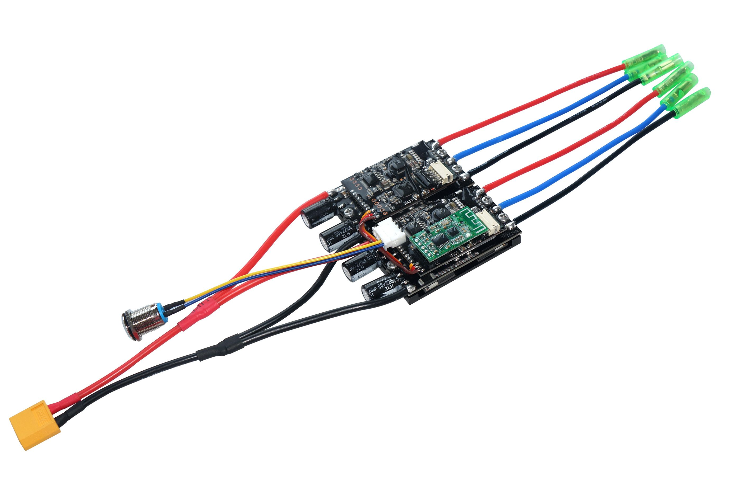 Maytech newest dual esc for hub motor and pulley motor, work well
