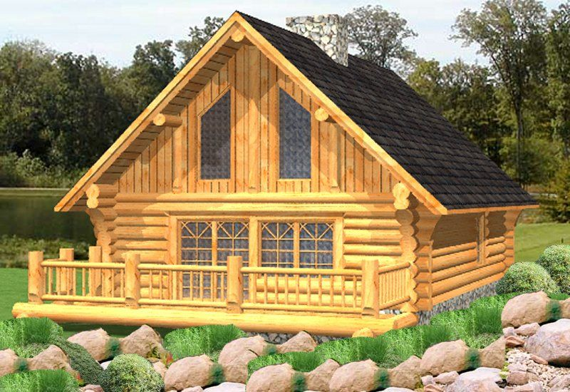 log cabin plan idea and log package price for handcrafted log home