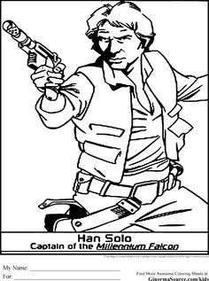 Star Wars Coloring Pages Han Solo Design