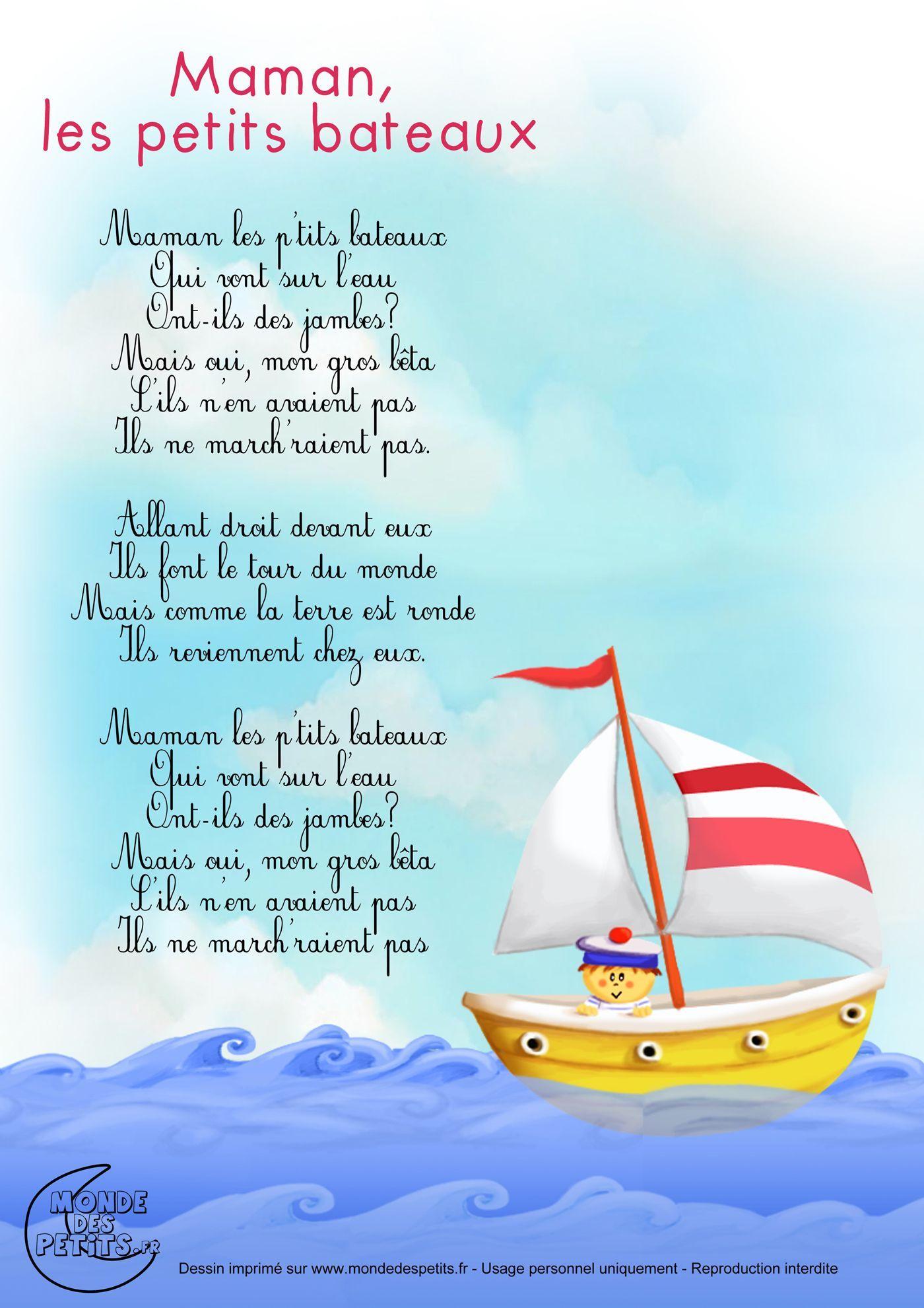 Paroles La Terre Est Ronde : paroles, terre, ronde, Paroles_Maman,, Petits, Bateaux, Lessen, Frans,, Kinderliedjes,, Liedjesteksten