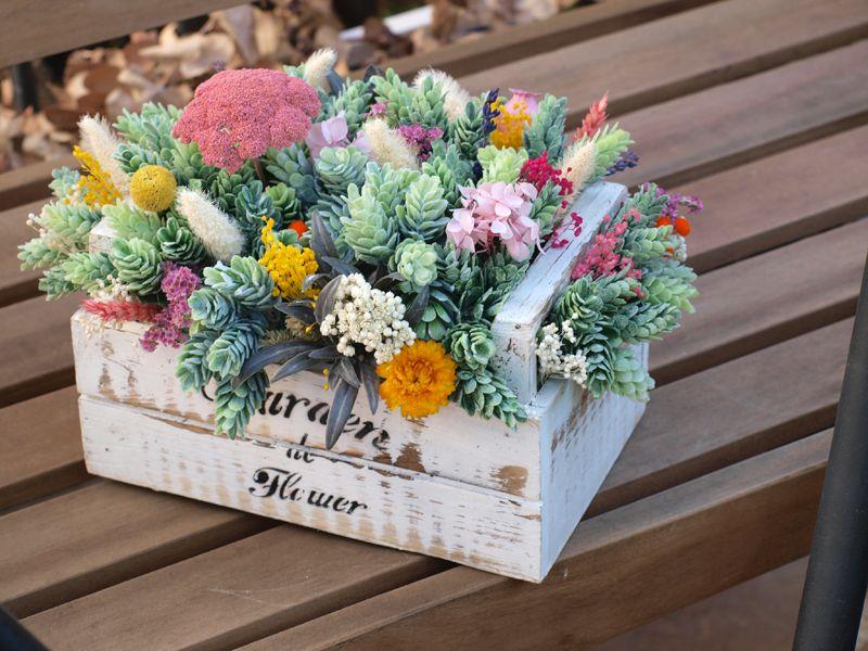 centro de mesas con flores secas - Cerca amb Google DRIED FLOWER - flores secas