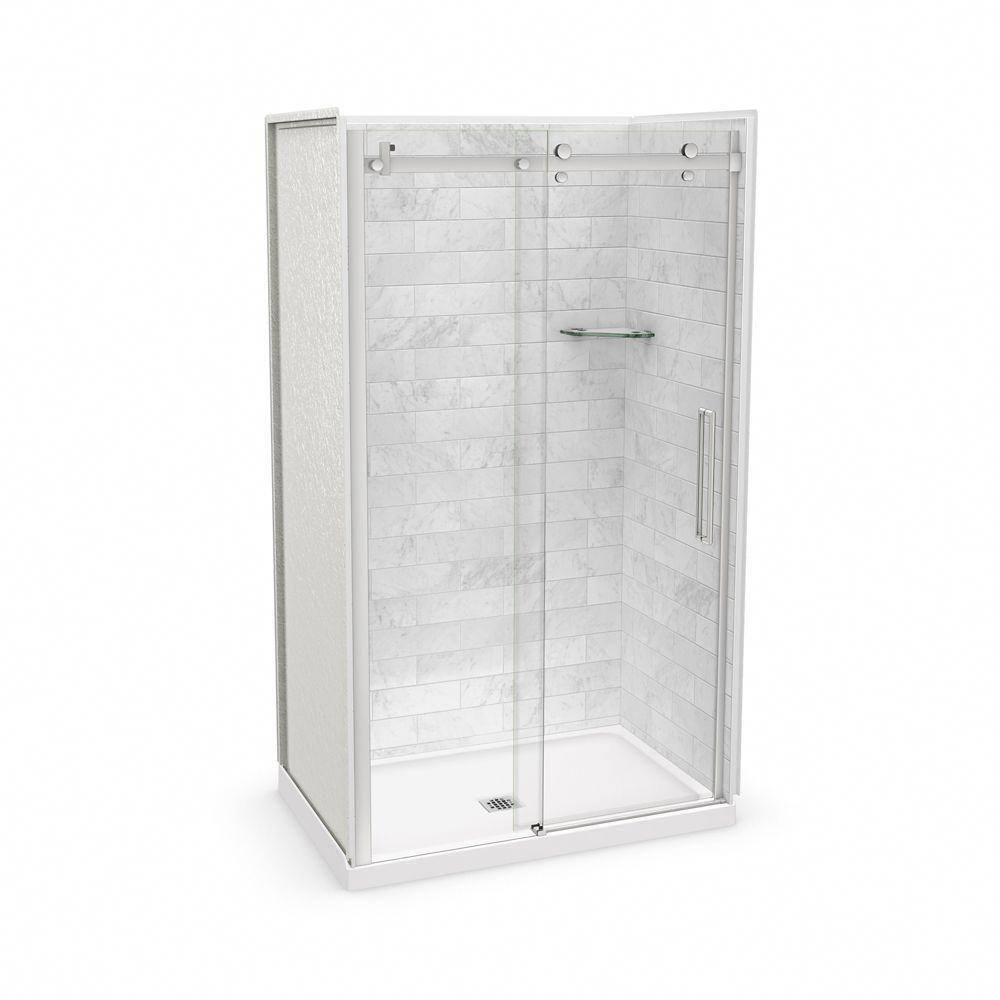 Utile 48 Inch X 32 Inch X 84 Inch Marble Carrara Alcove Shower Kit