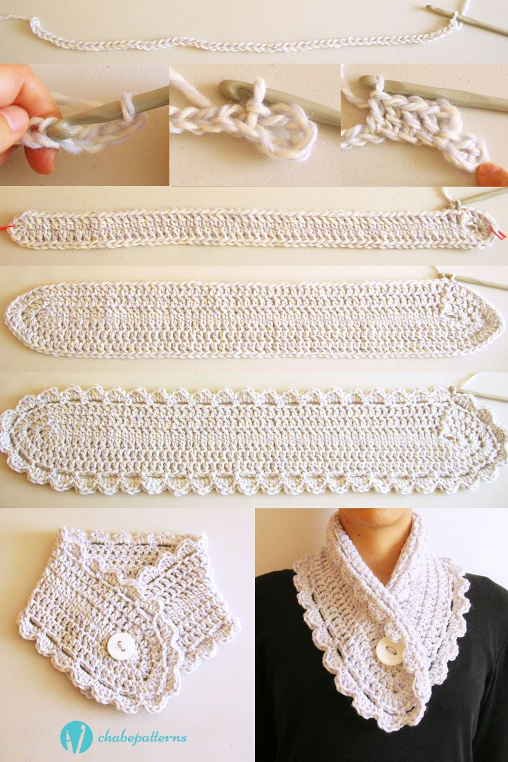 Short scarf, free pattern, photo tutorial, chart, written ...