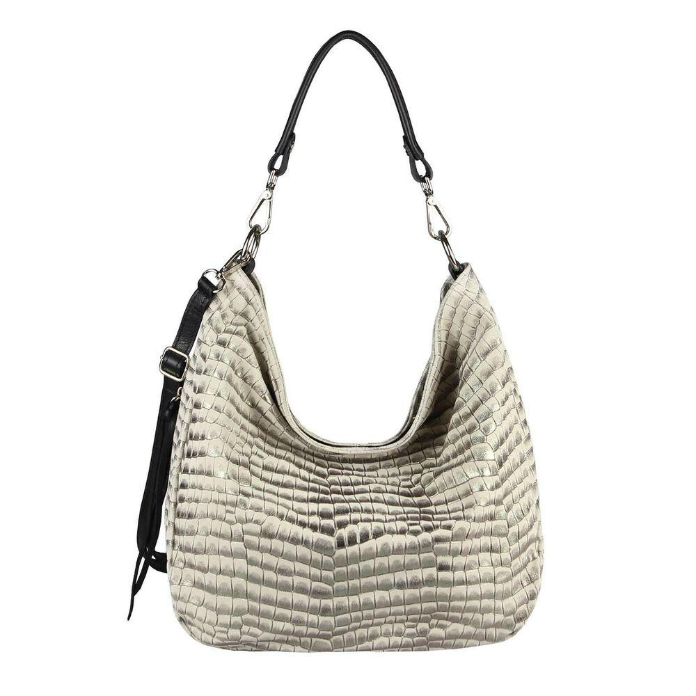Photo of [Werbung]  ITAL LADIES LEATHER HAND BAG Metallic shoulder bag shoulder bag Sh …