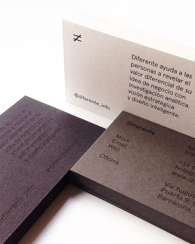 New business cards Letterpress printed on 3 different recycled