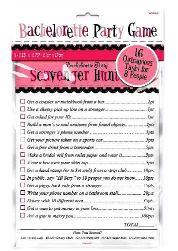 Bachelorette Party Scavenger Hunt Game The Perfect Addition To Any Last Night Out Celebration