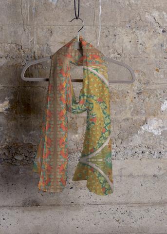 Cashmere Silk Scarf - BOATS by VIDA VIDA YU0IILe