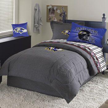 Baltaimore Ravens Boys Bedroom Nfl Baltimore Ravens Queen Sheet