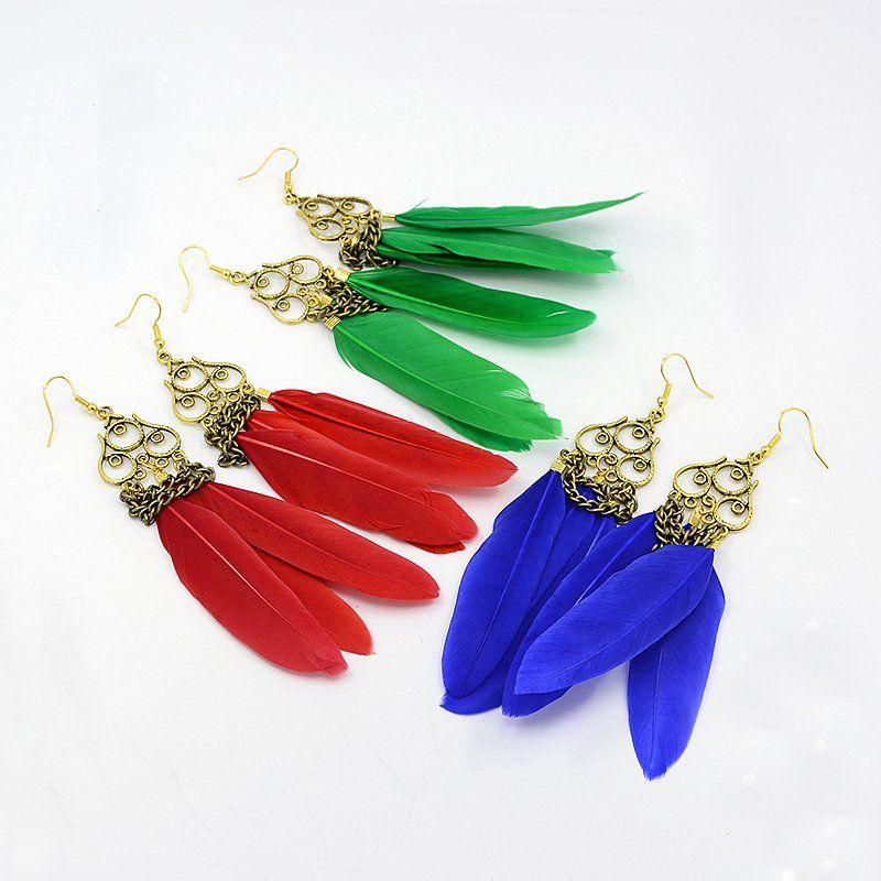 75e7e9cfc3d9c9 PandaHall Jewelry—Feather Earrings for Carnival with Alloy Findings |  PandaHall Beads Jewelry Blog