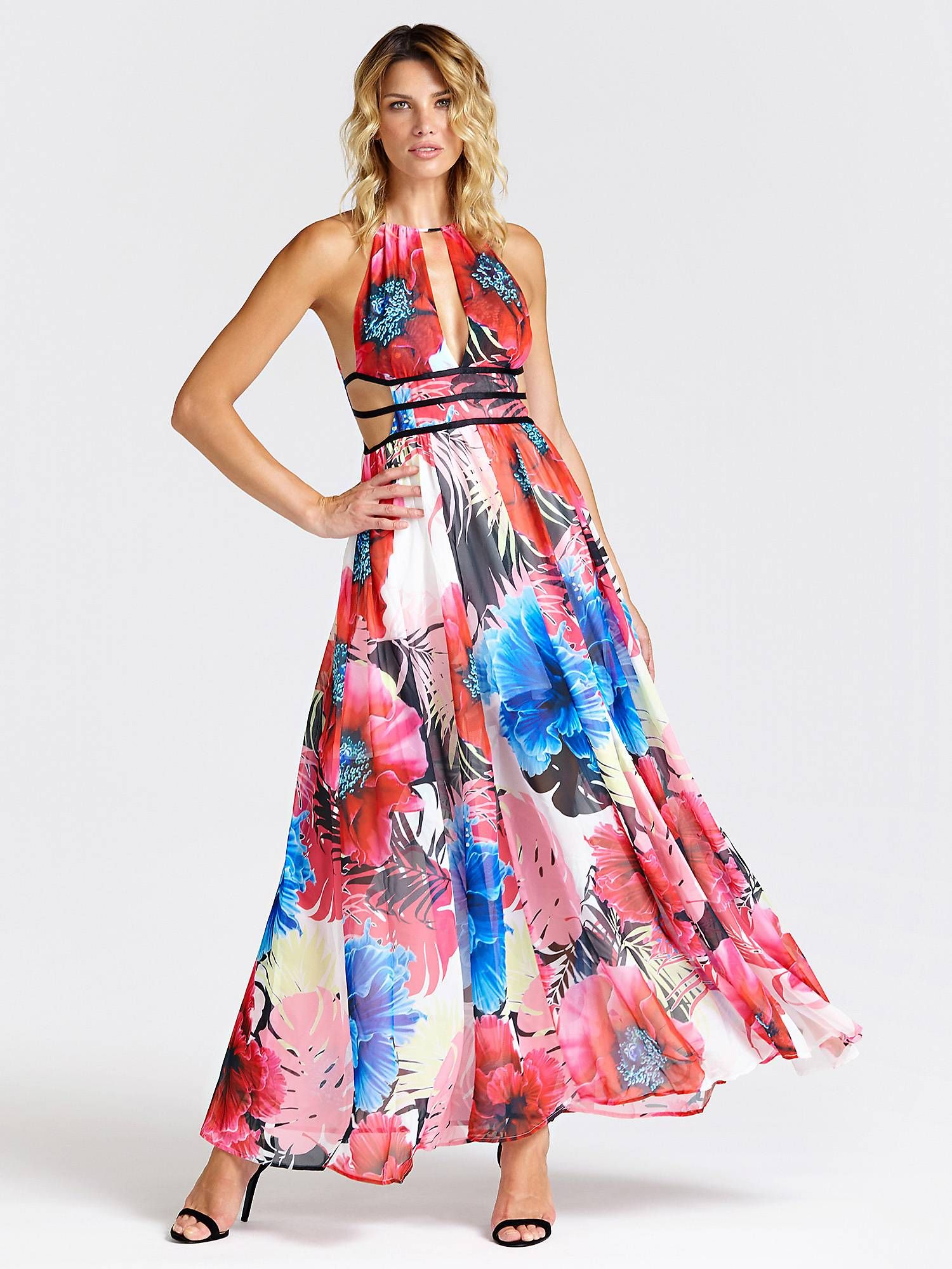 Long Floral Dress Guess Eu Guess Maxi Dress Guess Dress Floral Dresses Long