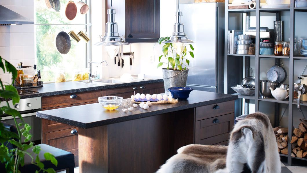 Inselparadies; Küche mit FAKTUM Wand- + Unterschränken, ROCKHAMMAR - ikea küchen unterschränke