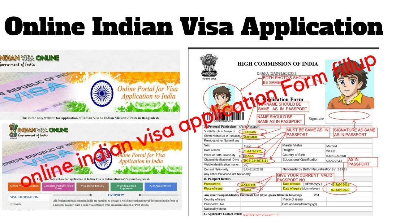 How To Fill Up Indian Visa Application Form New System With Out E Token Application Form Visa Online Application