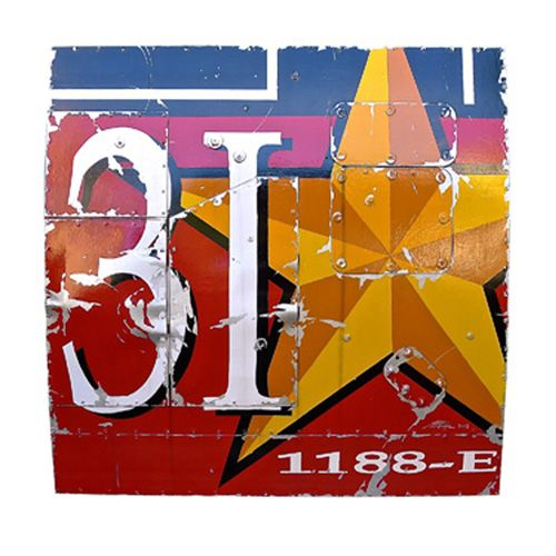 Alban - Yellow Star - Mixed media on wood -