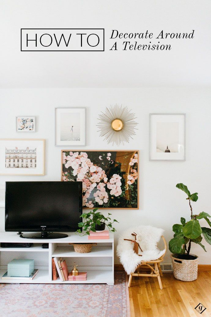 An Easy Way To Decorate Around A TV
