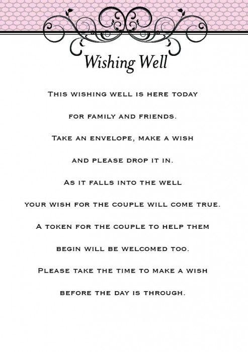 wishing well wedding no ts Google Search