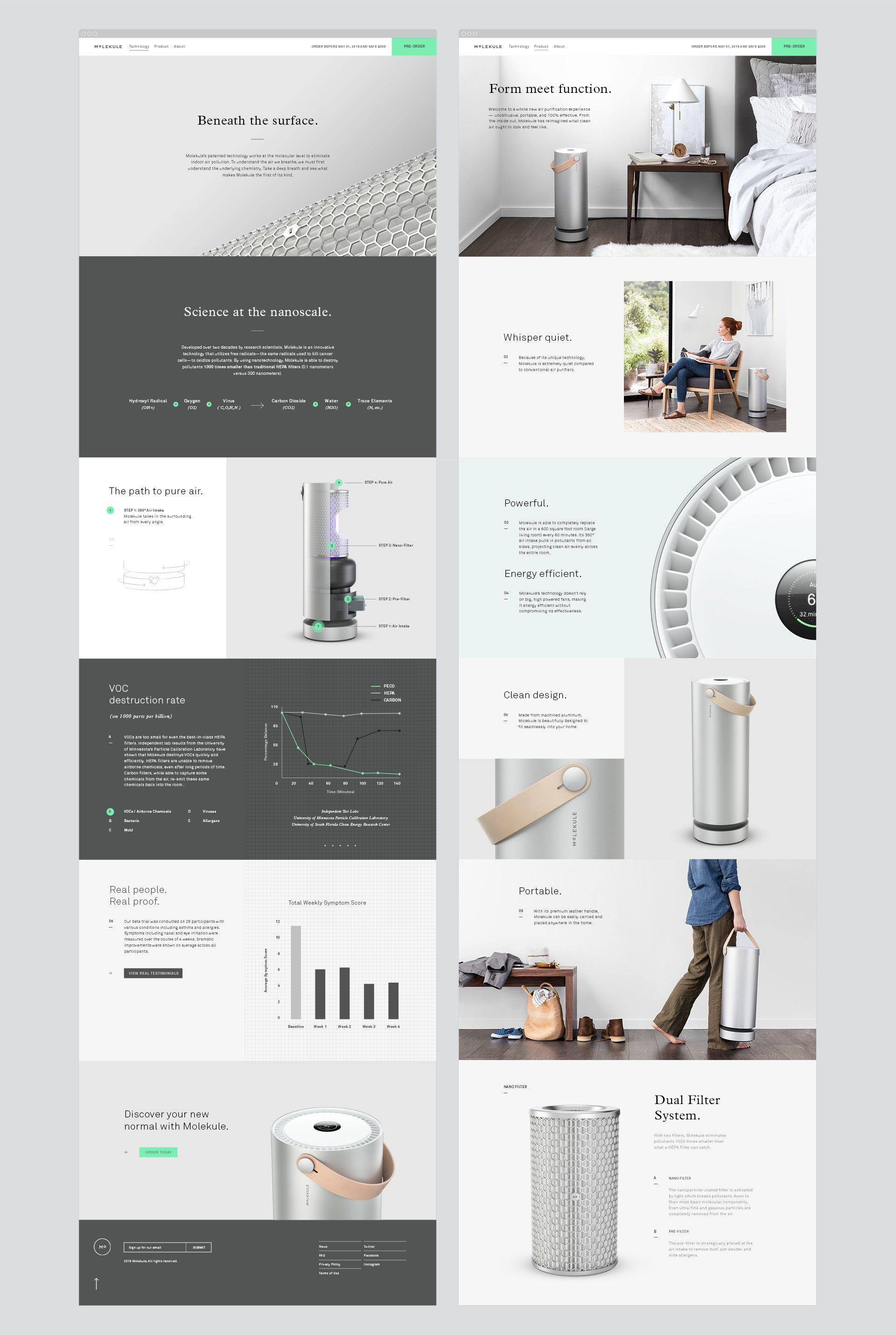 Molekule Branding Industrial Design Portfolio Portfolio Design Layout Design