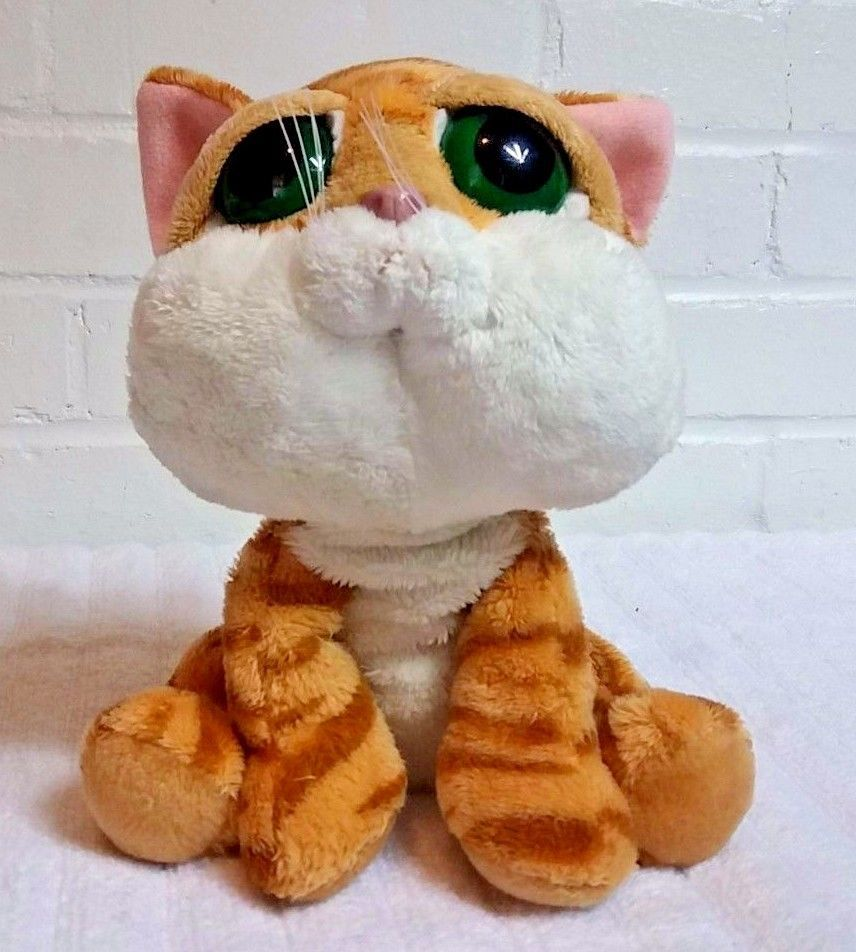 Russ Orange Tabby Cat Chilie Big Eyes Stuffed Animal Plush