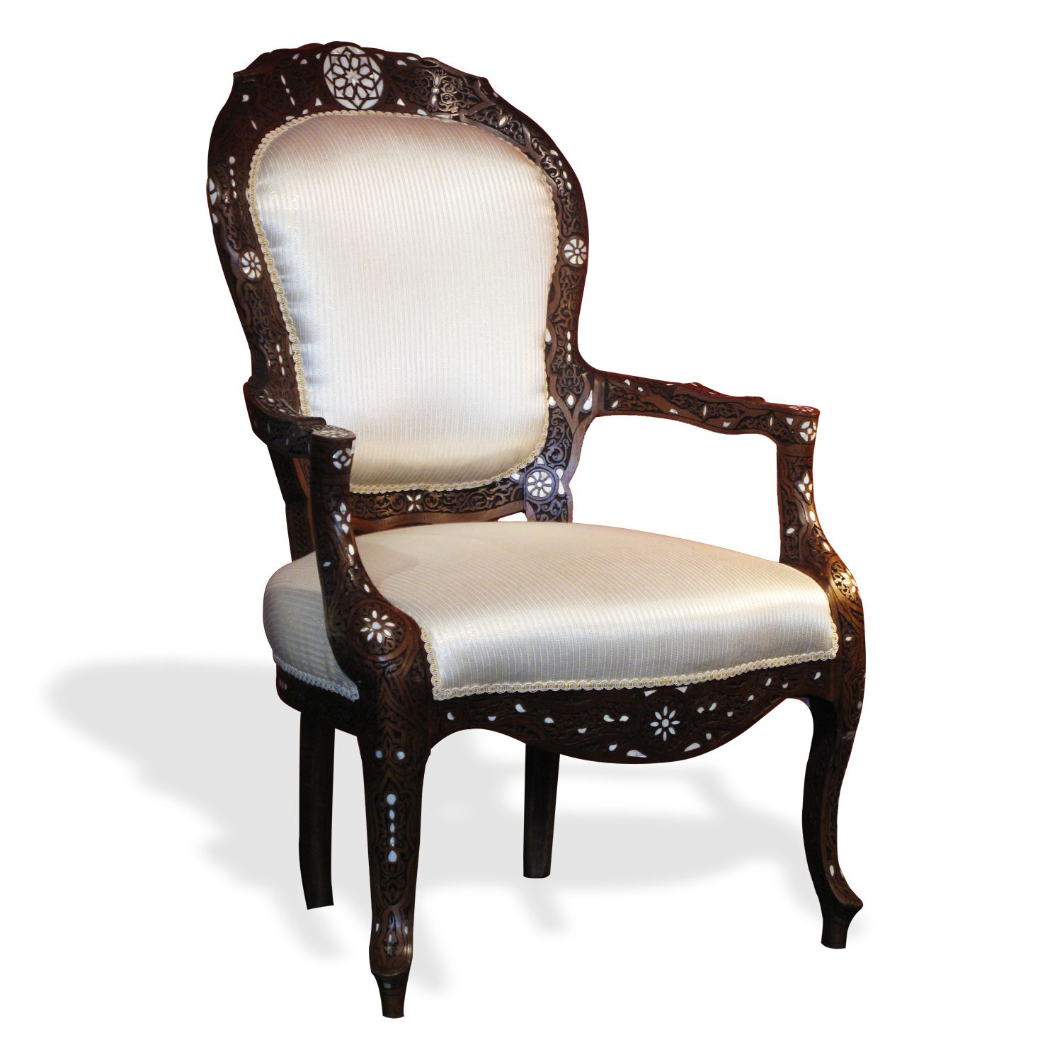 Moroccan U0026 Syrian Furniture   Syrian Moroccan Chair With Mother Of Pearl  Inlay.