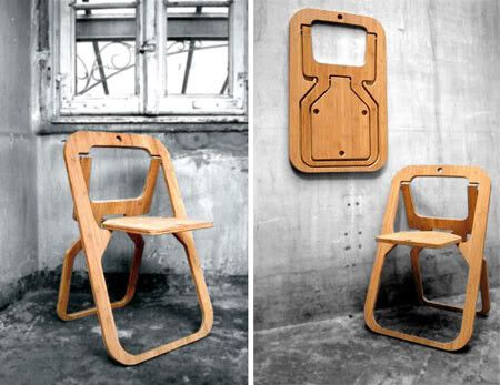 Desile Folding Chair By Christian Desile Picture On Visualizeus Folding Chair Creative Home Chair