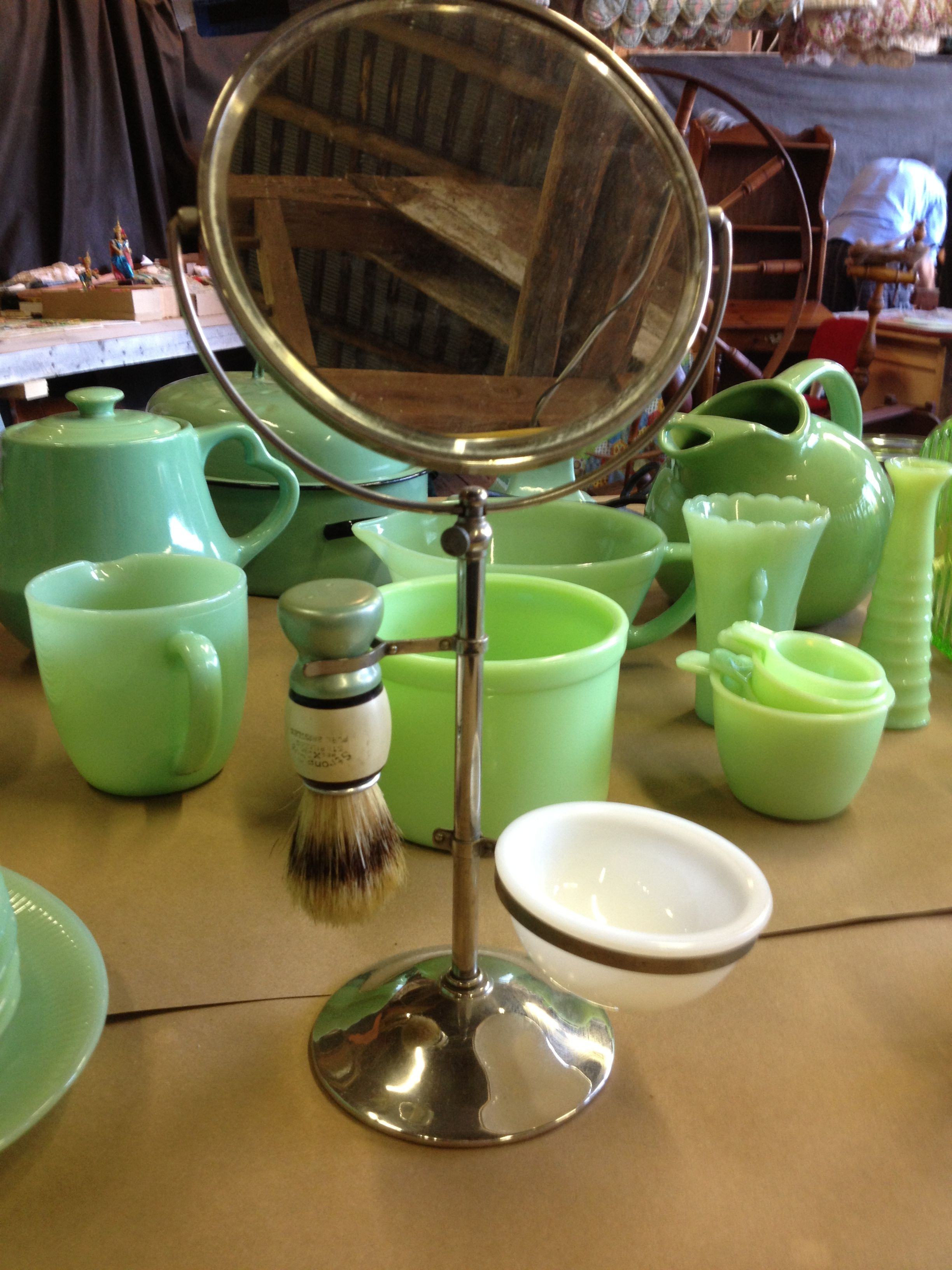 Green vintage shaving stand vintage shaving shaving