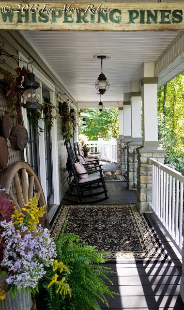 Far Above Rubies: Carolina autumn porch