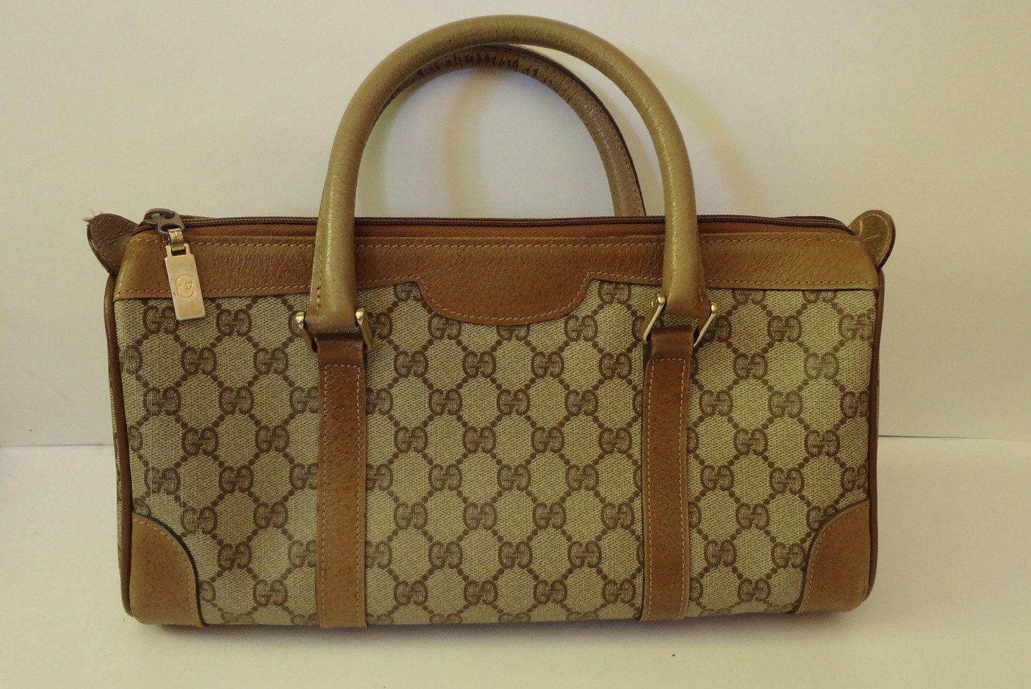Etsy Vintage Gucci Authentic Vintage Gucci Doctor Speedy Monogram Handbag Bag