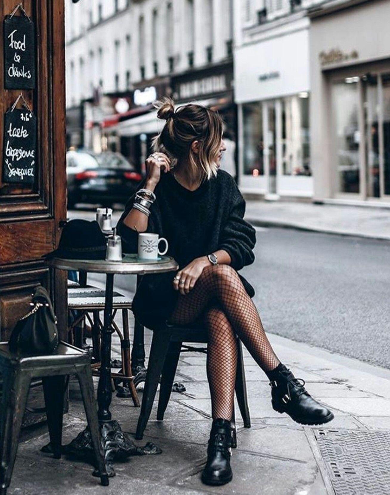 Netzstrumpfhose l ssig fashion pinterest outfit - Frauen style ideen ...