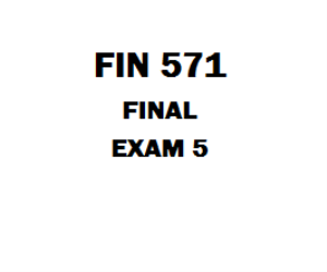 FIN 571 Final Exam 5 1. There are two important tax