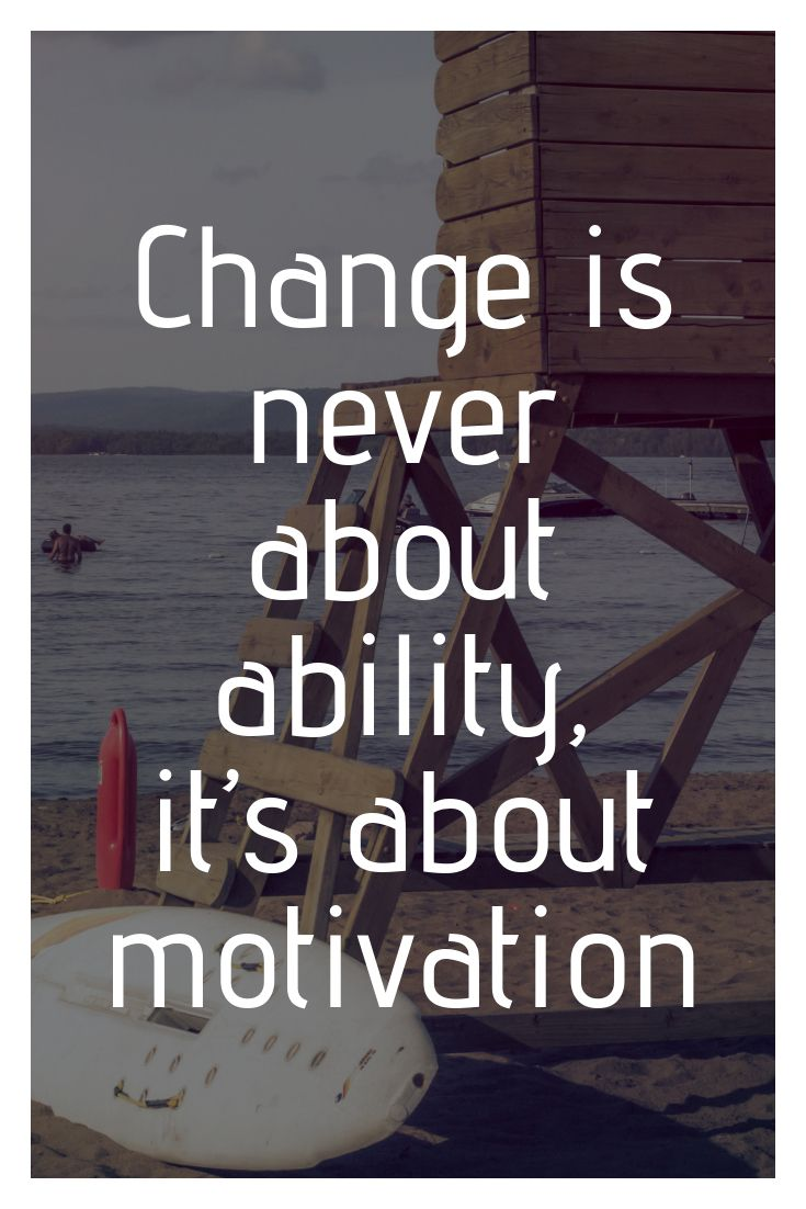 What change is about