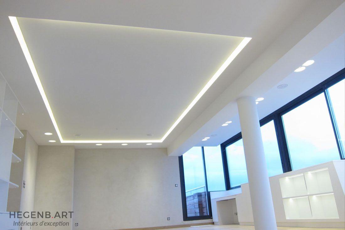 Plafond Lumineux Avec Eclairage Led Encastre Avec Images
