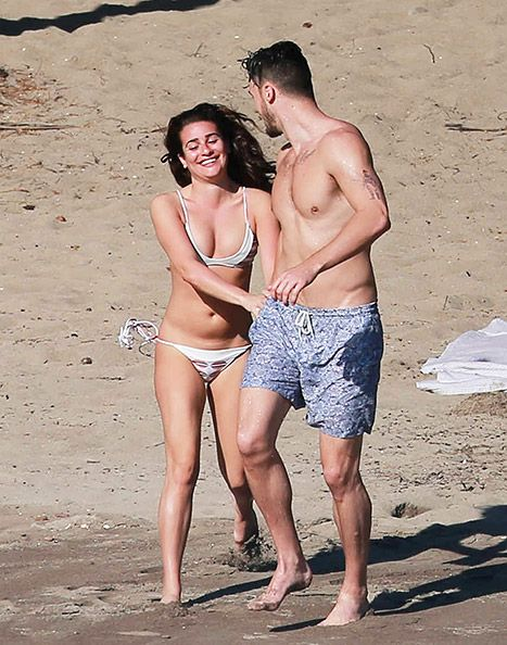 lea michele vacations in mexico with boyfriend matthew
