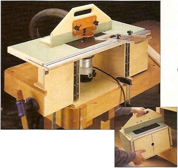 This Compact Router Table Has A Large Top With Wings That Fold Away