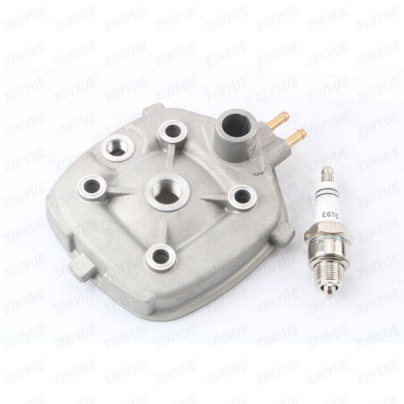 2 Stroke Cylinder Head E6tc Spark Plugs For Minarelli Malaguti F12 Phantom 50 Lc R F15 Firefox 50 Lc 50cc 60cc 70cc Motorcycle Accessories 50cc Cylinder Head