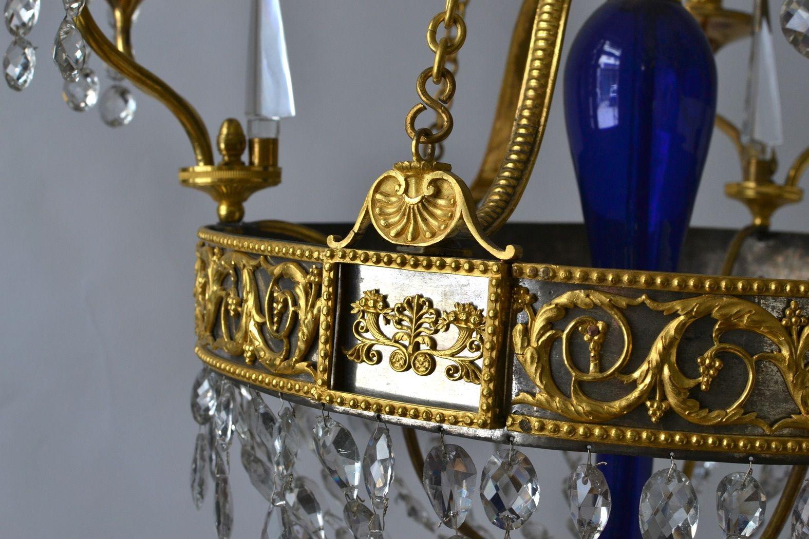 Lámpara bronce dorado al mercurio, acero plateado y cristal blanco y ...