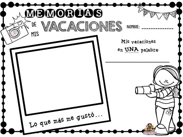 Infórmate Educa Memorias De Mis Vacaciones Dibujos