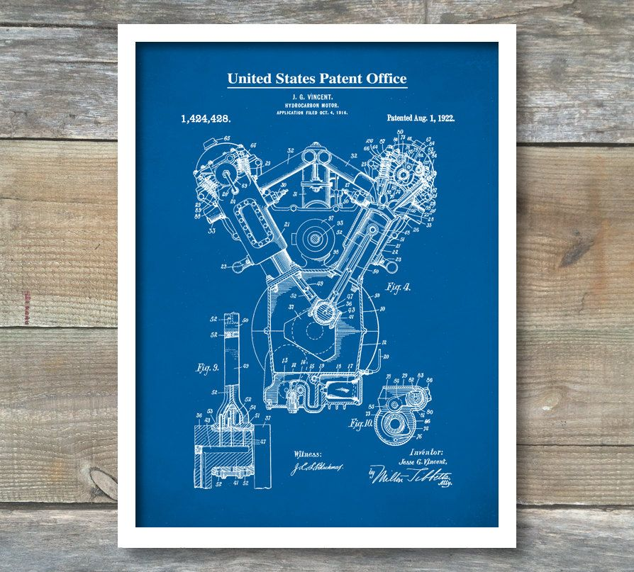 Auto art internal combustion engine patent patent print wall auto art internal combustion engine patent patent print wall decor blueprint malvernweather Gallery